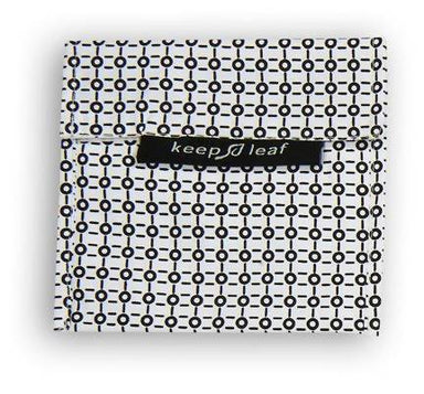 Keep Leaf Snack Bag - Large (Black and White) Snack Bags Neis Haus