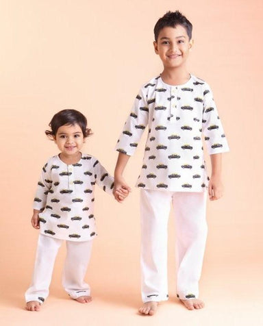 Kids Pyjamas - Taxi Print Kids Clothing Forty Red Bangles