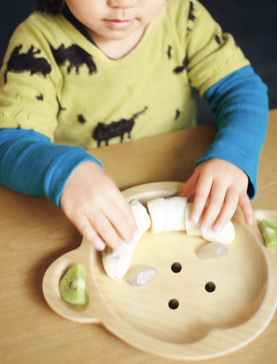 Kid's Wooden Plate - Monkey - Plates - time concept inc - Naiise
