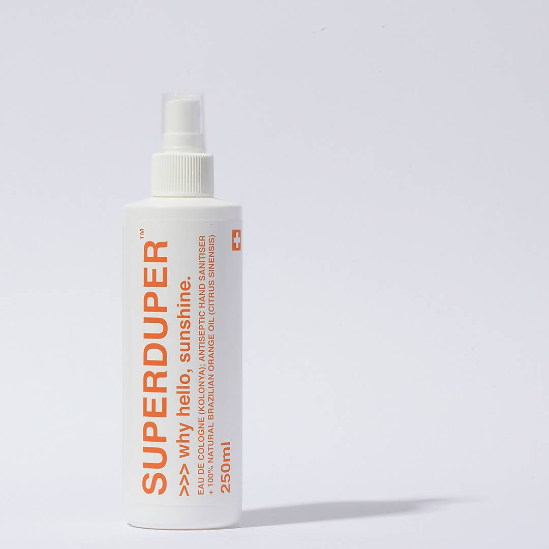 Kolonya Sanitiser - Why Hello, Sunshine Perfumes SUPERDUPER 250ml