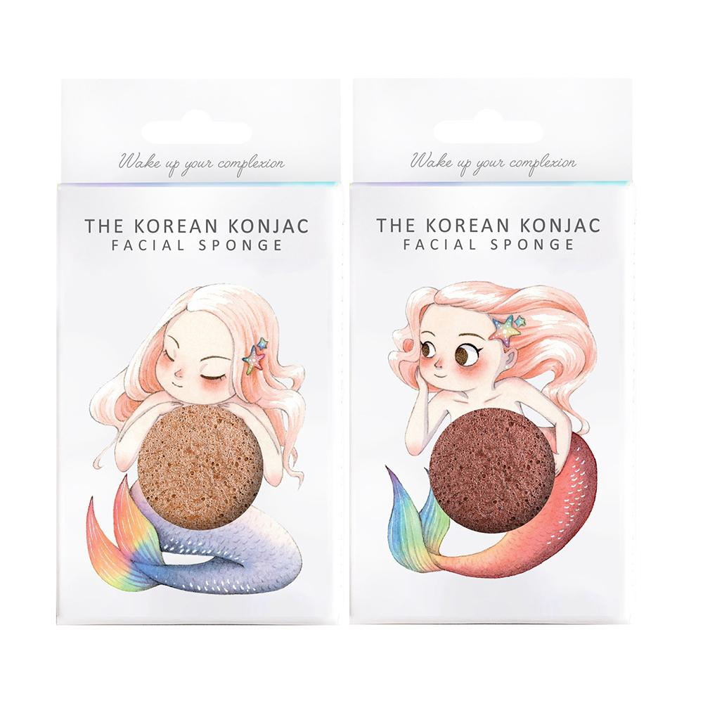 Konjac Facial Sponge - Mermaid Twin Set Beauty Gift Sets The Konjac Sponge Company