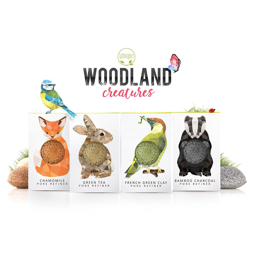 Konjac Mini Pore Refiner Woodland Gift Set Beauty Gift Sets The Konjac Sponge Company