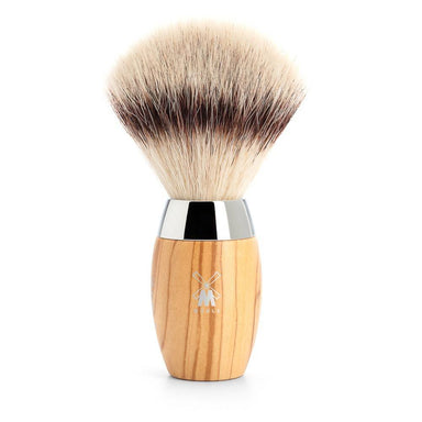 Kosmo shaving brush, olive wood and silvertip fibre hair - Shaving Brush - MÜHLE Singapore - Naiise