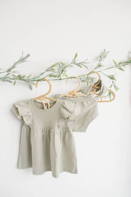 Ruffle Dress & Bloomers (Organic Cotton)
