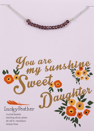 Lucky Feather - You Are My Sunshine Sweet Daughter Necklace - Necklaces - The Planet Collection - Naiise