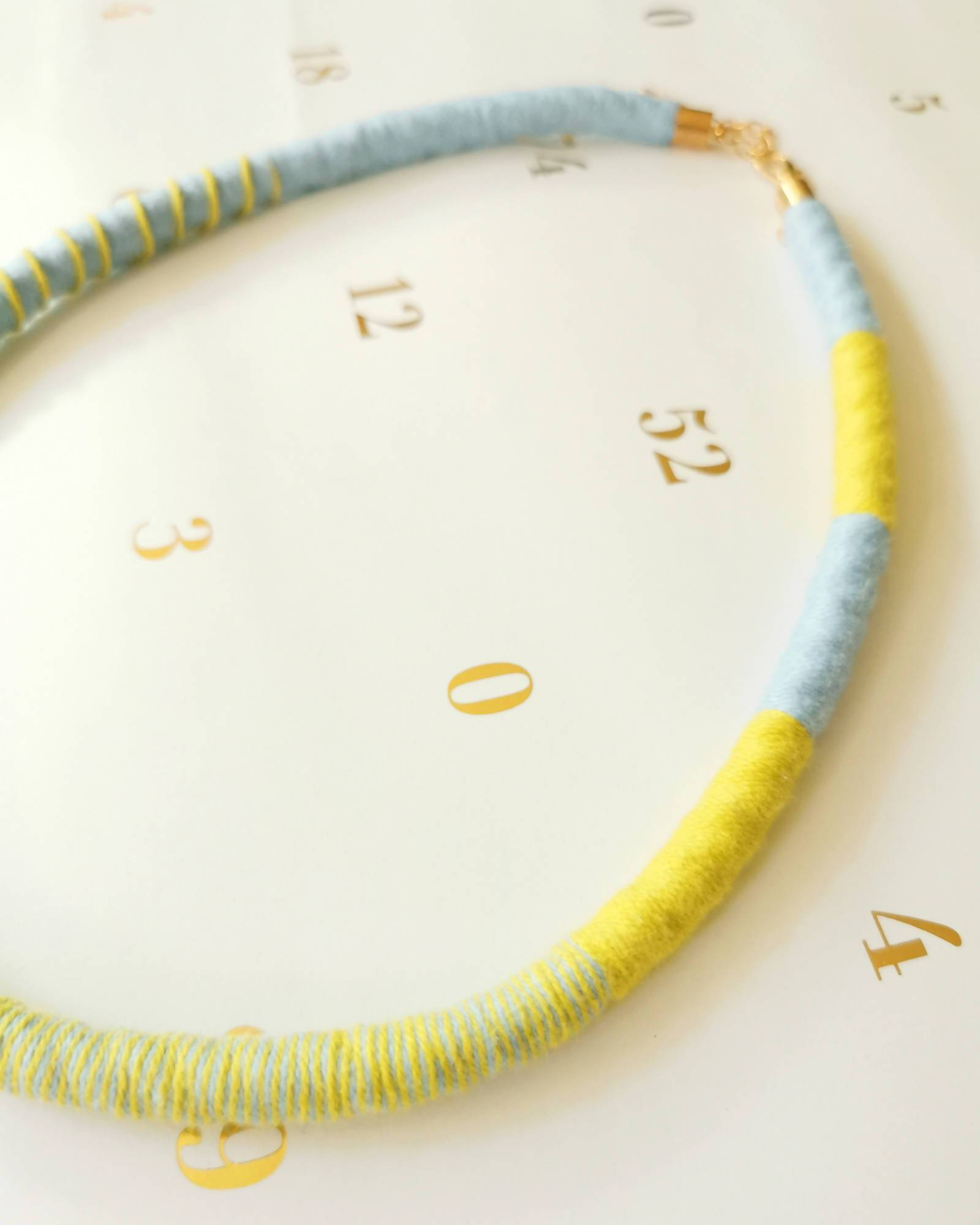 Tribeca Multi-wear Rope Necklace/Bracelet - Baby Blue/Chartreuse - Necklaces - Playtime Rebs Studio - Naiise