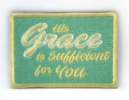 His Grace is Sufficient for you Verse-It Velcro Morale Patch - Sticker Patches - The Super Blessed - Naiise