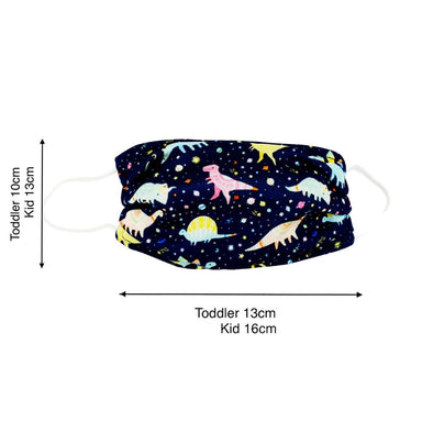 Toddler / Kids Reusable Dri-Fit Face Masks - Galaxy Dinosaur - New Arrivals - Zigzagme - Naiise