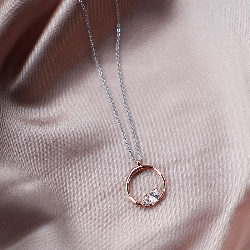 Lagune Necklace in Silver/Rose Gold Necklaces Secret Clovers