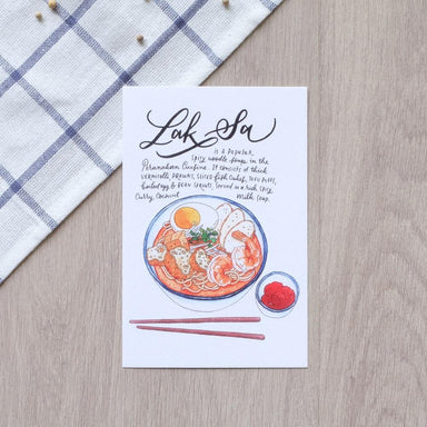Laksa Postcard - Local Postcards - Just Sketch - Naiise