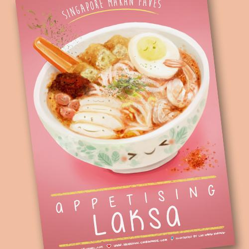 Laksa Postcard - Local Postcards - Lim Hang Kwong - Naiise