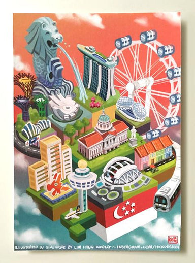 Landmarks of Singapore - Local Prints - Lim Hang Kwong - Naiise