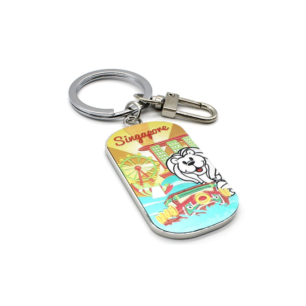 Landscape Mirror Keychain - Yellow Local Keychains Guardian Angel