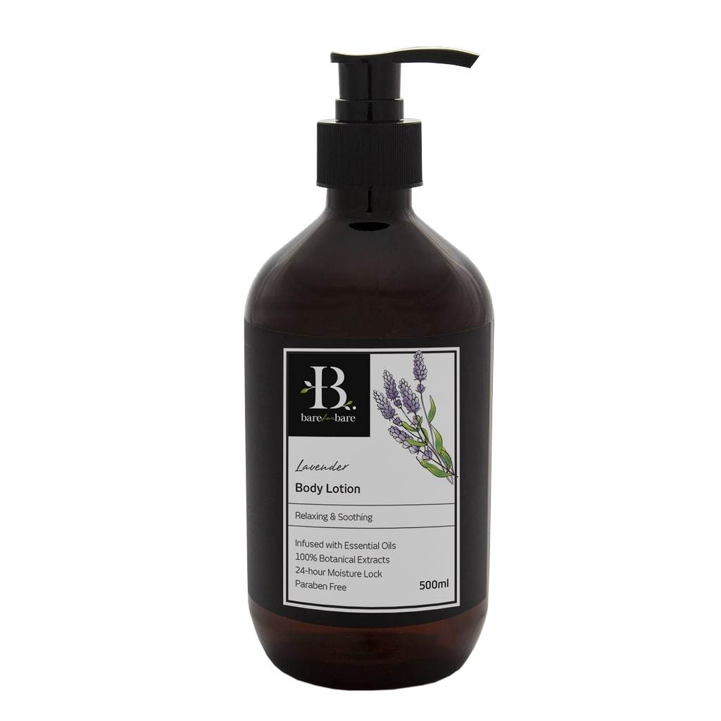 Lavender Body Lotion Body Lotions Bare for Bare 500ml