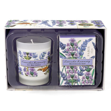 Lavender Rosemary Candle & Soap Gift Set Gift Sets Michel Design Works