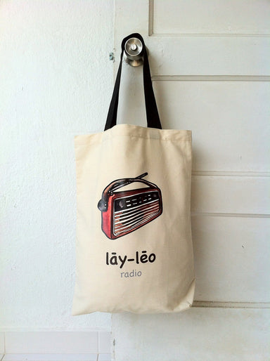 """Lay-Leo"" Radio Tote Bag - Local Tote Bags - Sibeynostalgic - Naiise"