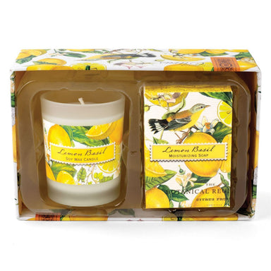 Lemon Basil Candle & Soap Gift Set Gift Sets Michel Design Works