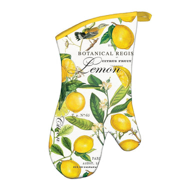 Lemon Basil Oven Mitt Oven Gloves Michel Design Works