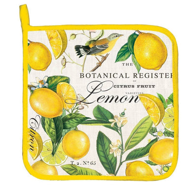 Lemon Basil Potholder Cooking Utensils Michel Design Works