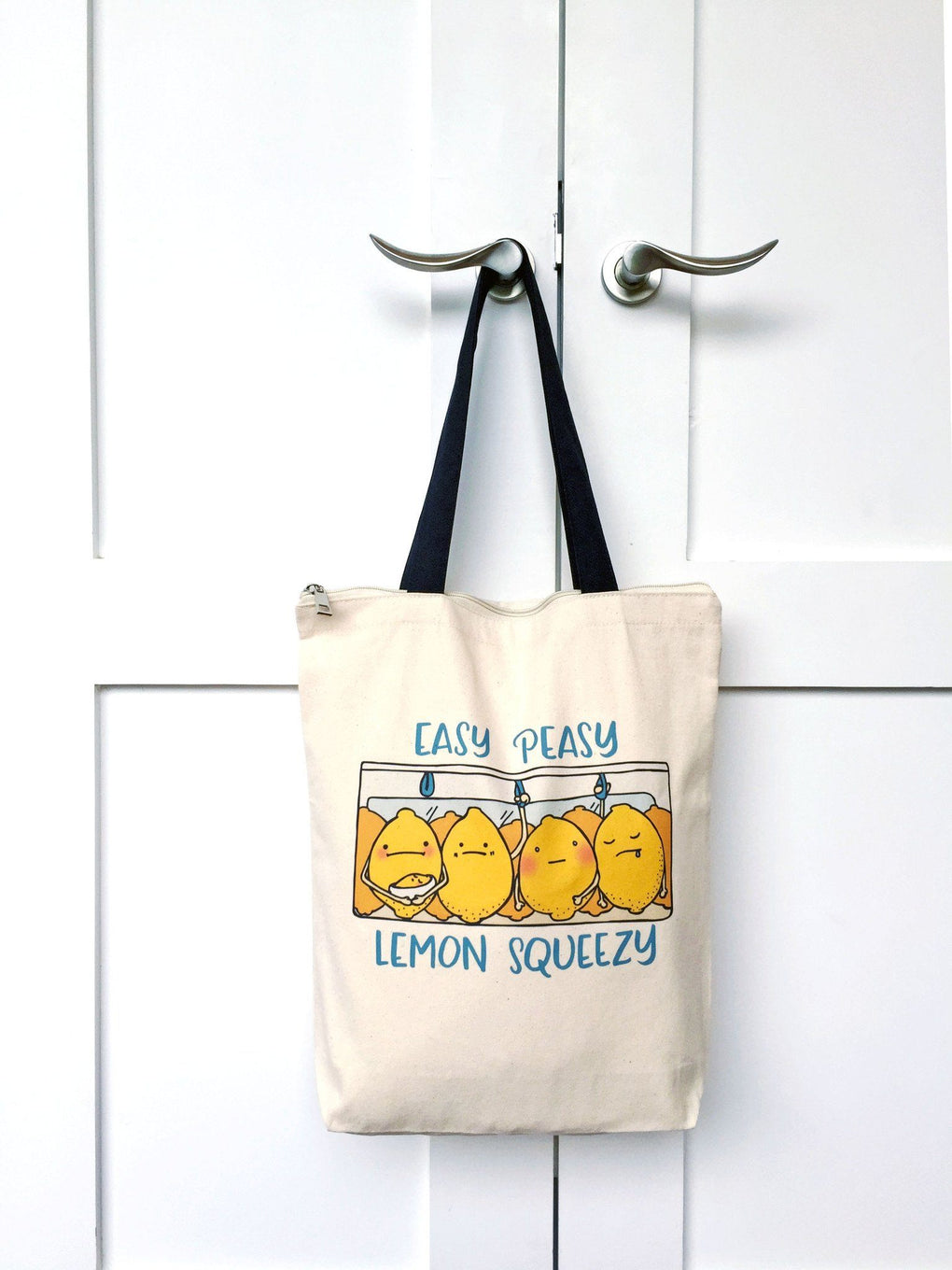 Lemon Squeezy Zip Tote Bag Tote Bags A Wild Exploration