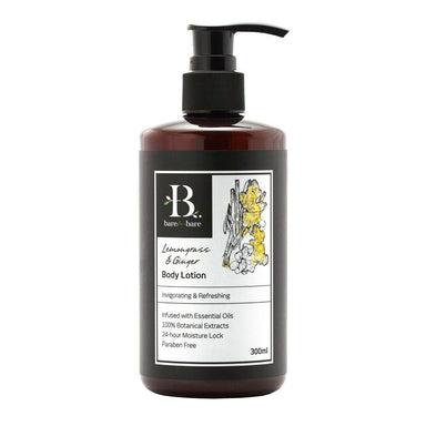 Lemongrass & Ginger Body Lotion - 300ml Body Lotions Bare for Bare