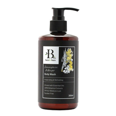 Lemongrass & Ginger Body Wash - 300ml Soaps Bare for Bare