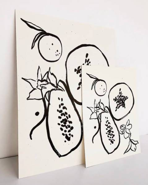 Les Fruits Art Print Art Twig & Co