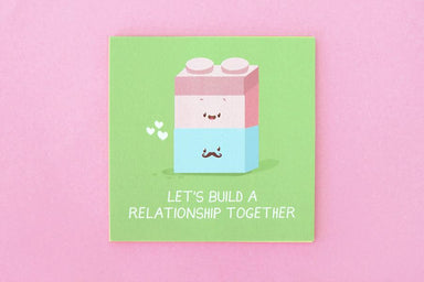 Let's build a relationship together Postcard - Love Cards - TispyTopsy - Naiise