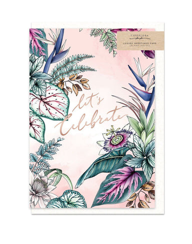 Let's Celebrate Card - Generic Greeting Cards - Typoflora - Naiise