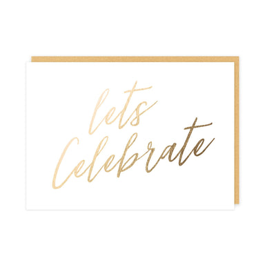 Let's Celebrate Card (Gloss Gold Foil) Congratulations Cards Pine on Paper