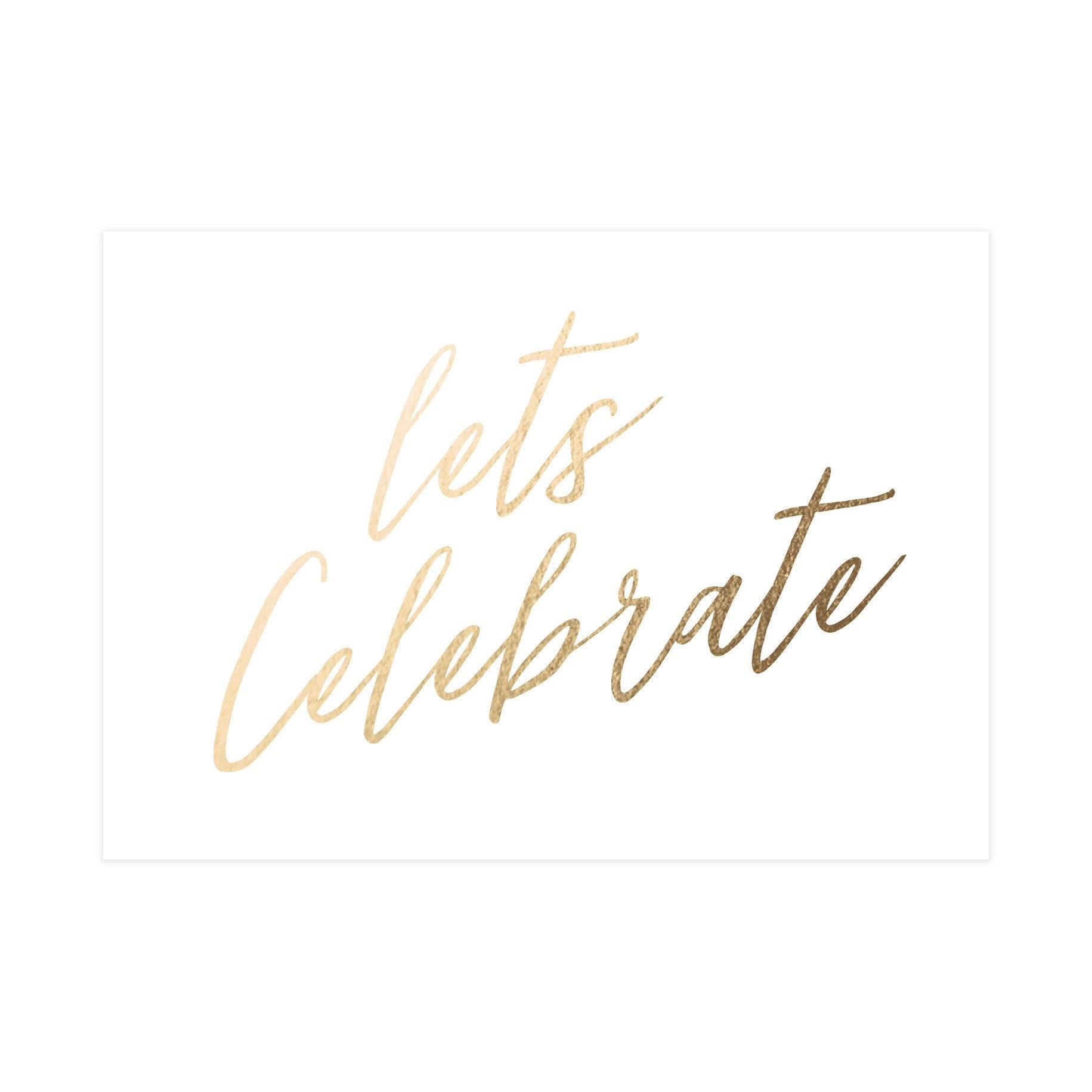 Let's Celebrate Card (Gloss Gold Foil) - Congratulations Cards - Pine on Paper - Naiise