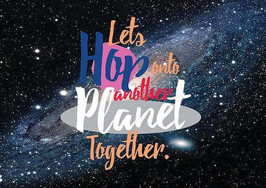 Let's Hop Onto The Planet Together Postcard - Postcards - The Paper Happiness - Naiise