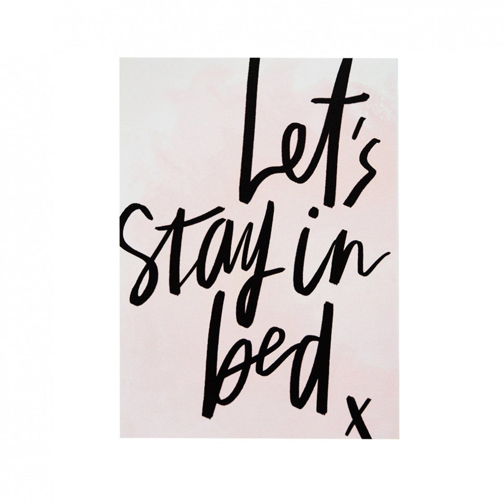 Let's Stay in Bed Print Prints The Paper Bunny