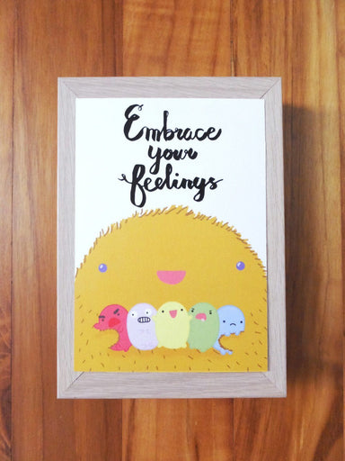 Life – Embrace Your Feelings Postcard Postcards Steak & Eggs Please