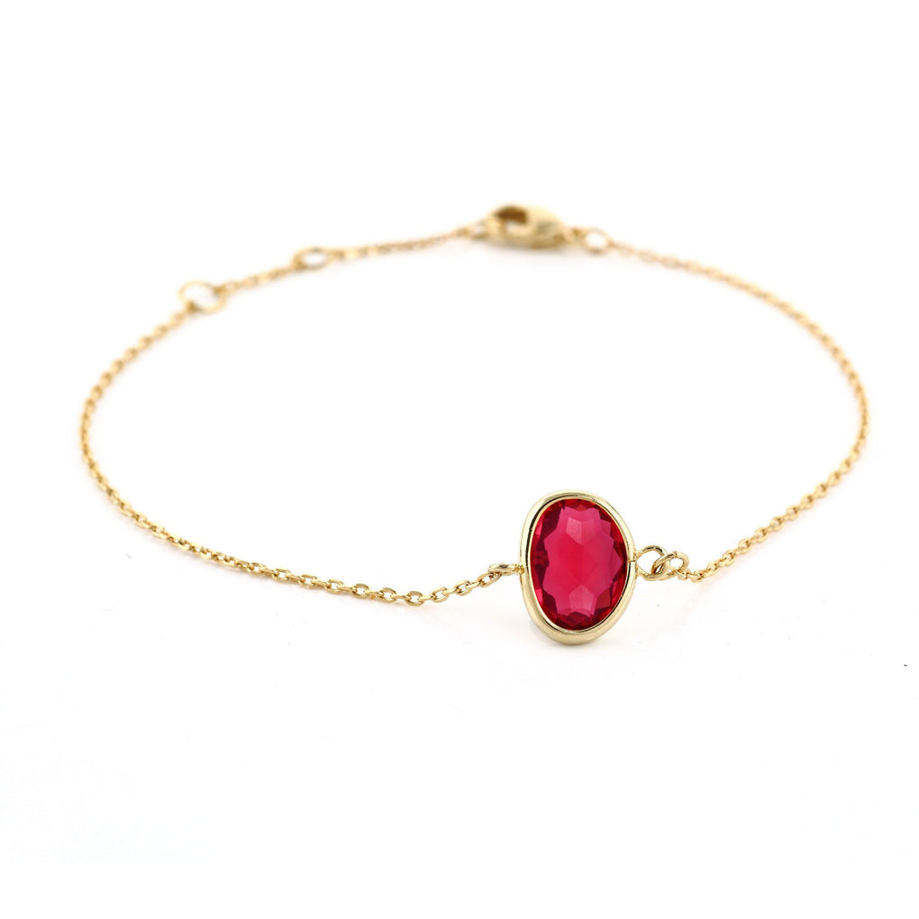 Light Bracelet - 1 Crystal LB40A Bracelets Heart Victoria Ruby Red