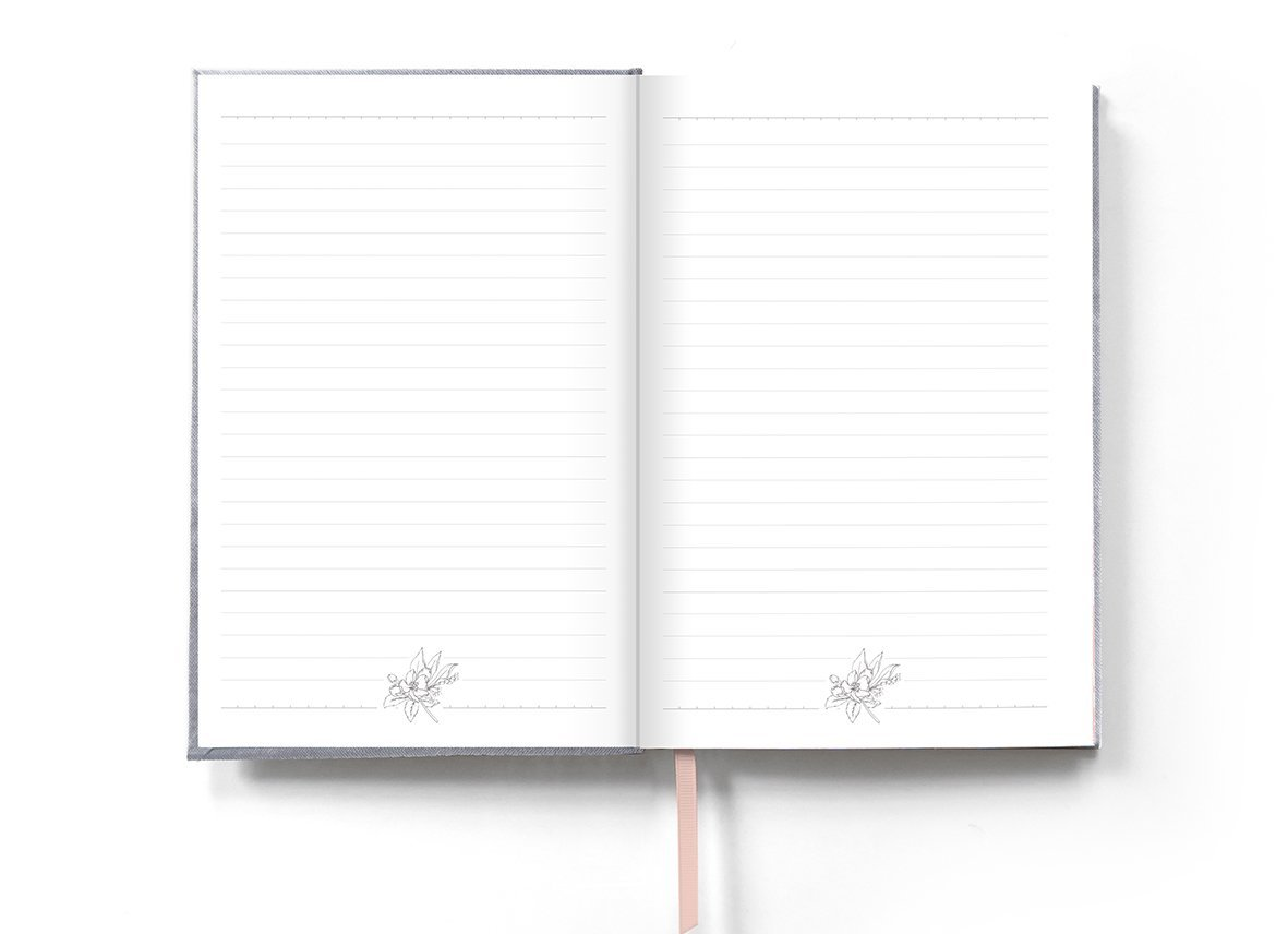 Light grey wildflowers Notebook - Notebooks - Typoflora - Naiise
