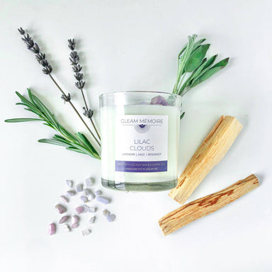 Lilac Clouds Scented Candle Scented Candles Gleam Mémoire