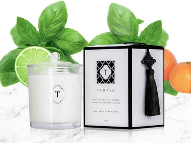 Lime Basil and Mandarin Candle - Scented Candles - Temple Candles - Naiise