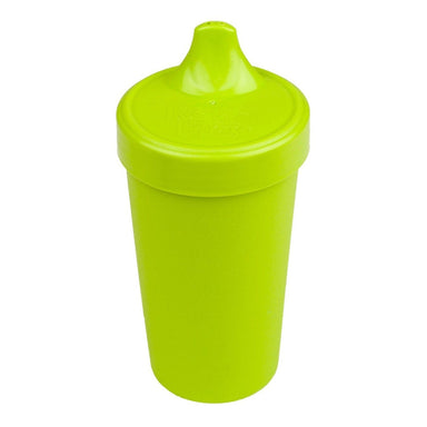 Lime Green No-Spill Sippy Cup Children Cutlery Re-Play