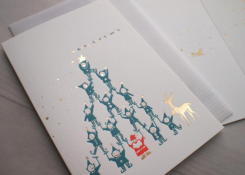 Little Elf Tree Christmas Card - Christmas Cards - ditto ditto - Naiise