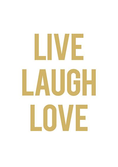 Live Laugh Love Gold Print Prints Fevrier Designs