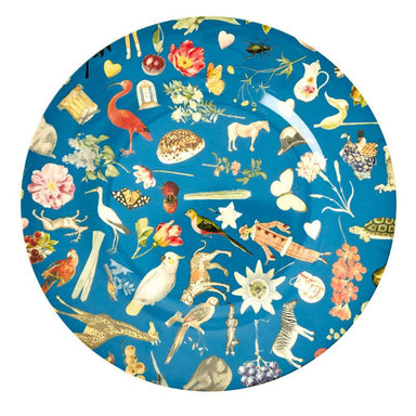 Melamine Dinner Plate with Blue Art Print - Joëlle Kitchenware The Children's Showcase
