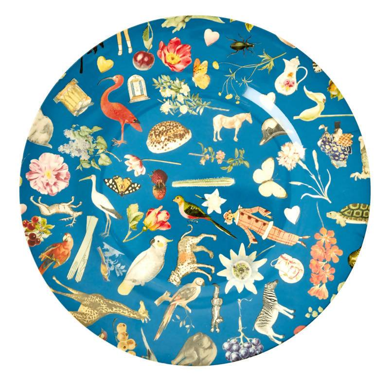 Melamine Dinner Plate with Blue Art Print - Joëlle - Kitchenware - The Children's Showcase - Naiise