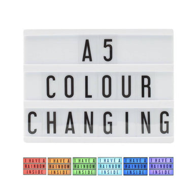 Locomocean A5 Colour Changing Message Lightbox New Arrivals Zigzagme