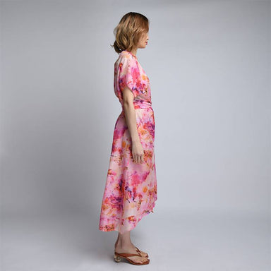 Long Kimono Pink Watercolour - Dresses - Akosée - Naiise