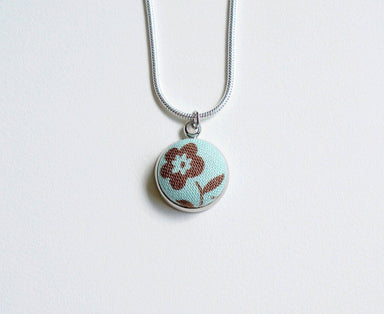 Lorraine Spring Handmade Fabric Button Necklace - Necklaces - Paperdaise Accessories - Naiise