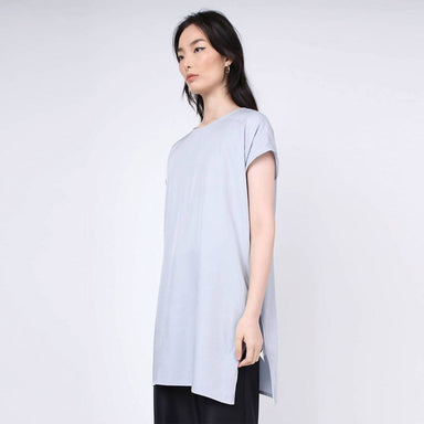 Lou Side Zip Long Tunic Top - Elation Women's Tops Salient Label