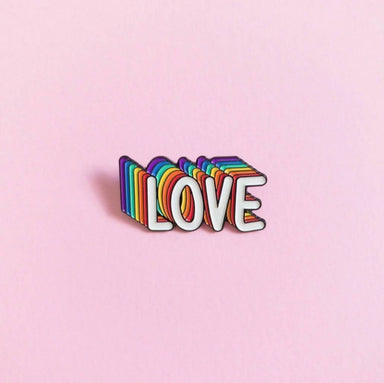 Love Is Love Enamel Pin Pins Heckin' Unicorn