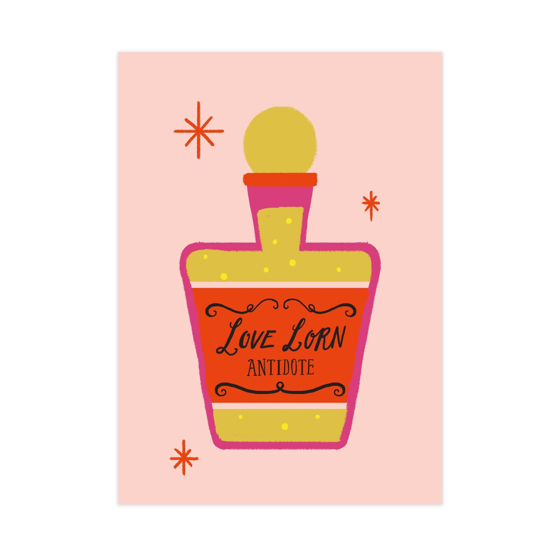 Love Lorn Potion Card - Love Cards - Pine on Paper - Naiise
