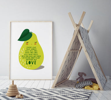 Love Pear Print Kids Prints Poppetry
